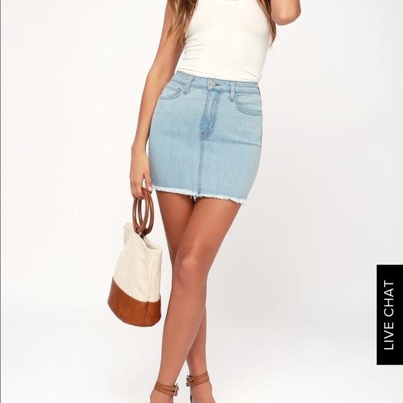 0048efdeac Lulu's Skirts | Denim Skirt From Lulus | Poshmark